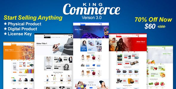 KingCommerce - All in One Single/Multi Vendor eCommerce Business Management Sy