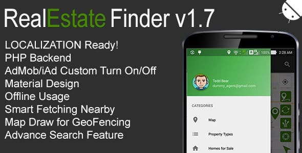 RealEstate Finder Full Android Application v1.7