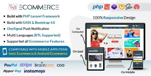 Laravel Ecommerce v1.7 - Universal Ecommerce/Store Full Website with Themes an