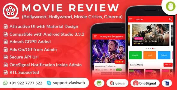 Android Movie Review App (Bollywood, Hollywood, Movie Critics, Cinema) v1.0