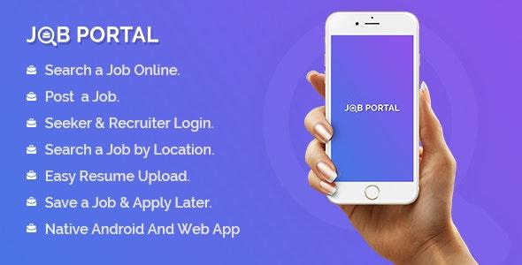 Job Portal Mobile Application With Web Portal
