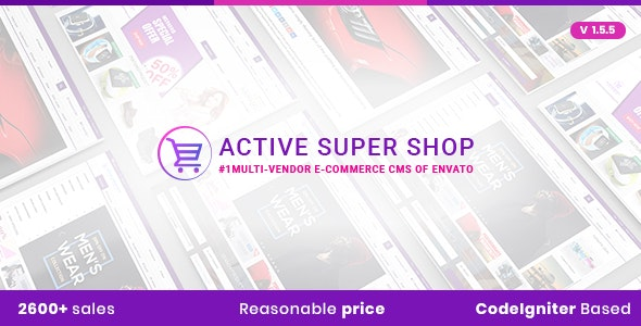 Active Super Shop v1.5.5 - Multi-vendor CMS