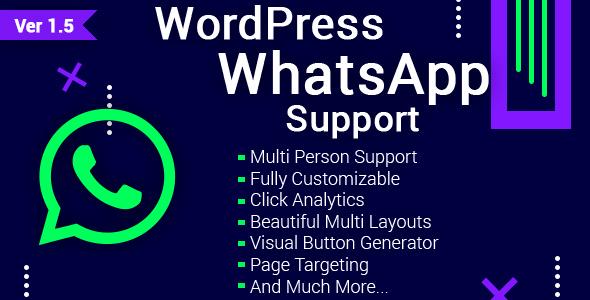 WordPress WhatsApp Support v1.5.1