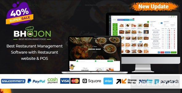 Bhojon v2.5 - Best Restaurant Management Software with Restaurant Website - null