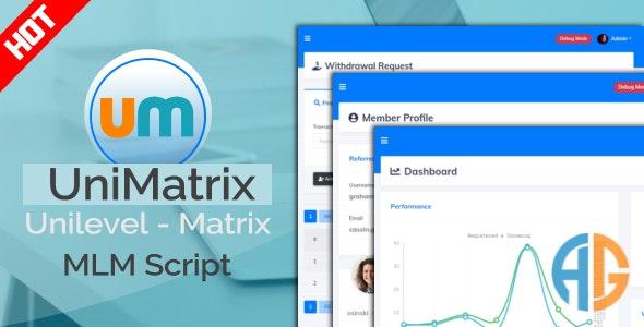 UniMatrix Membership v1.2.2 - MLM Script