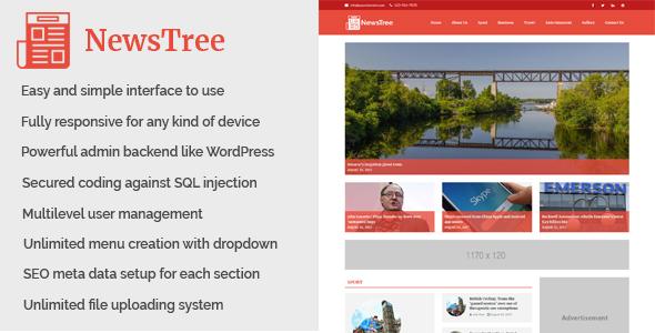 NewsTree - Magazine and News Portal Website CMS