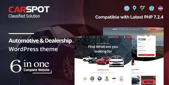 CarSpot 2.1.9 – Automotive Car Dealer WordPress Classified Theme