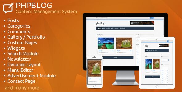phpBlog v1.2 - Content Management System