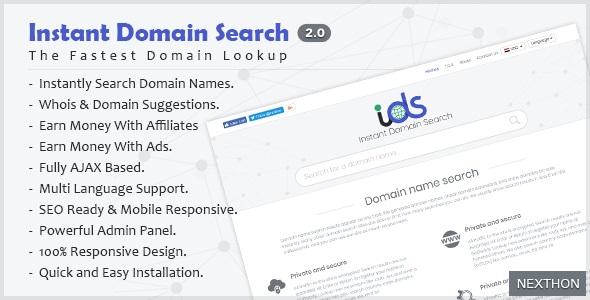 Instant Domain Search Script v2.0