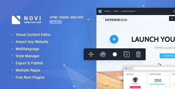 Novi v0.9.1 - HTML Page Builder & Visual Content Editor