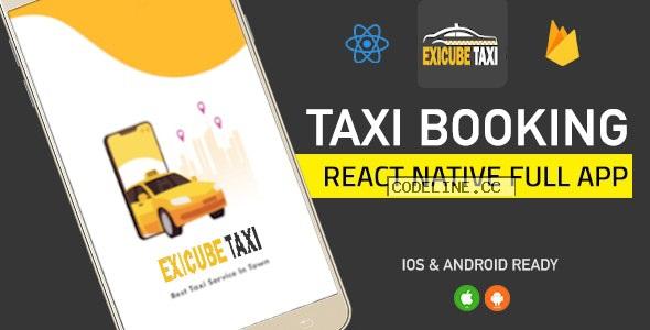 Exicube Taxi App ( GrabCab ) + iOS + Android + Web + Admin