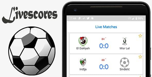 LiveScore Football Android Full App (Admob)